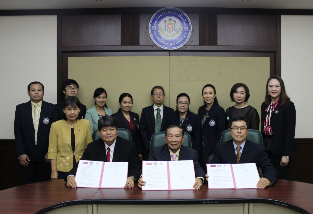 The board committee of Manose Health and Beauty Research Center have participated the 3-party MOU signing for the academic cooperation with North – Chiang Mai University and 003 Beauty Center Corporation Limited in Bangkok for the establishment of CIC (Cosmetic Innovation Center)
