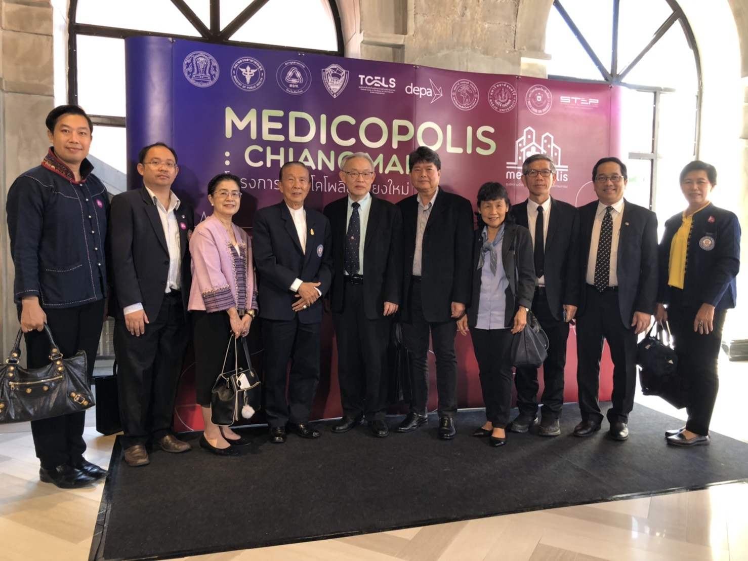 Professor Dr. Jiradej Manosroi and Professor Dr. Aranya Manosroi have participated in the Vej Nakorn Project (Medicopolis) MOU signing ceremony at Nimmam Convention Center – One Nimman, Chiang Mai, Thailand.