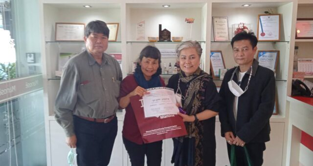 Ms. Bussara  Puak In-Sang, Manager of Smart Health and Aesthetics Company Limited together with Mr. Chaisit  Pipatsirimongkol have visited Manose Health and Beauty Research Center, Chiang Mai